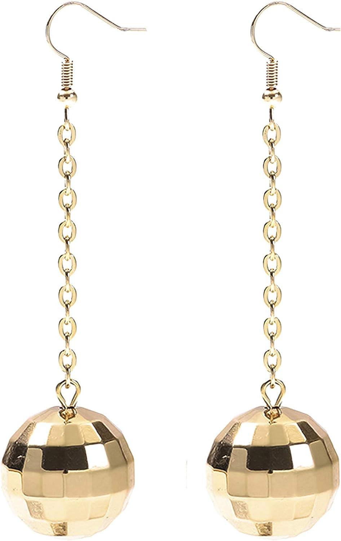 70s Vintage Disco Jewelled Drop Earrings