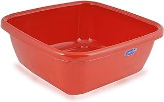 Cosmoplast Rectangular Basin Red Plastic Bath Tub - 9 Liter