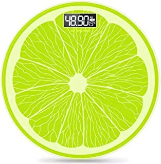 YQSHYP Weight Scale, Compact Electronic Bathroom Scales - Toughened Glass, Easy To Read Digital Display, Instant Precise Reading with Step-On Feature, Slim Design-Lemon Green