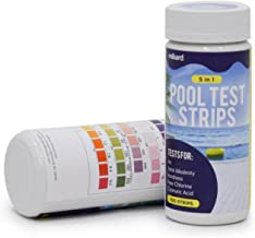 Milliard Pool Test Strips – for Pool Water, Hot Tub, and Spa - 5-Way Test Strips - 100 Count