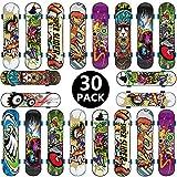 BETOY Monopatines para Dedos, 30pcs Mini Diapasn Patineta Skateboard Fingerboard Juegos de Deportes Nios, Recompensas por Lecciones Escolares (Color Aleatorio)