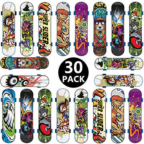 BETOY Fingerskateboard Set, 30pcs Finger Skateboard Professionelle Mini Fingerboards Skatepark Spiel Schlüsselbund Dekoration Geburtstagsgeschenk Geschenk für Kinder