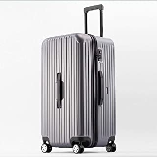 Rectangular Trolley case Solid Color Large Capacity Storage Luggage Out Gray