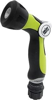 Aqua Joe AJHN100-QC One Touch Adjustable Hose Nozzle w/Smart Throttle Control, Green