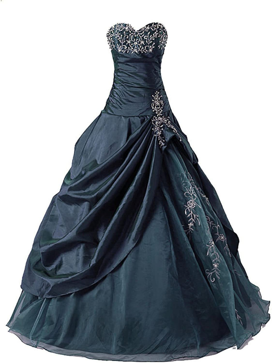 Vantexi Women's Strapless Taffeta Quinceanera Dress Prom Gown