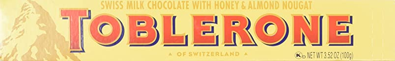 Toblerone Swiss Milk Chocolate Bar, 3.52-Ounce