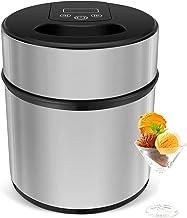 MVPower Sorbetière Électrique 2L, Machine à Glace en acier inoxydable pour Sorbet Glace, Crème Glacée, Yaourt,Fonction Min...