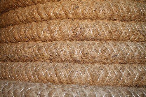 Doubleyou Geovlies & Baustoffe Drainagerohr DN 50 gelocht mit Kokosfilter, Kokos ummantelt, Drainage (20m)