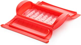 Lekue Steam Case with Tray for 1 to 2 Person, Red