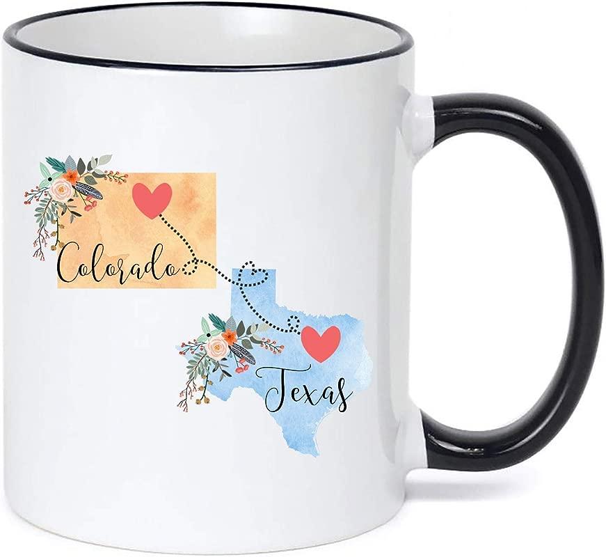 Texas To Colorado Mug Colorado To Texas Mug Texas Colorado Gift Colorado Texas Coffee Cup