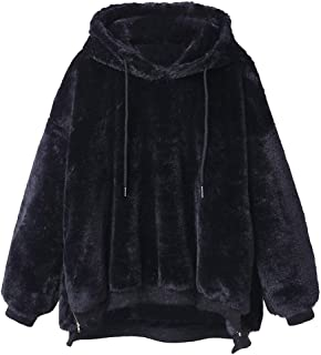 Frauen Wollmantel FRAUIT Damen Einfarbig warme Jacke Flauschige Mantel Fleece Fell Oberbekleidung Sweatshirt Mantel Pullover Damen Mode Elegant Wunderschön Streetwear Freizeit Party Kleidung