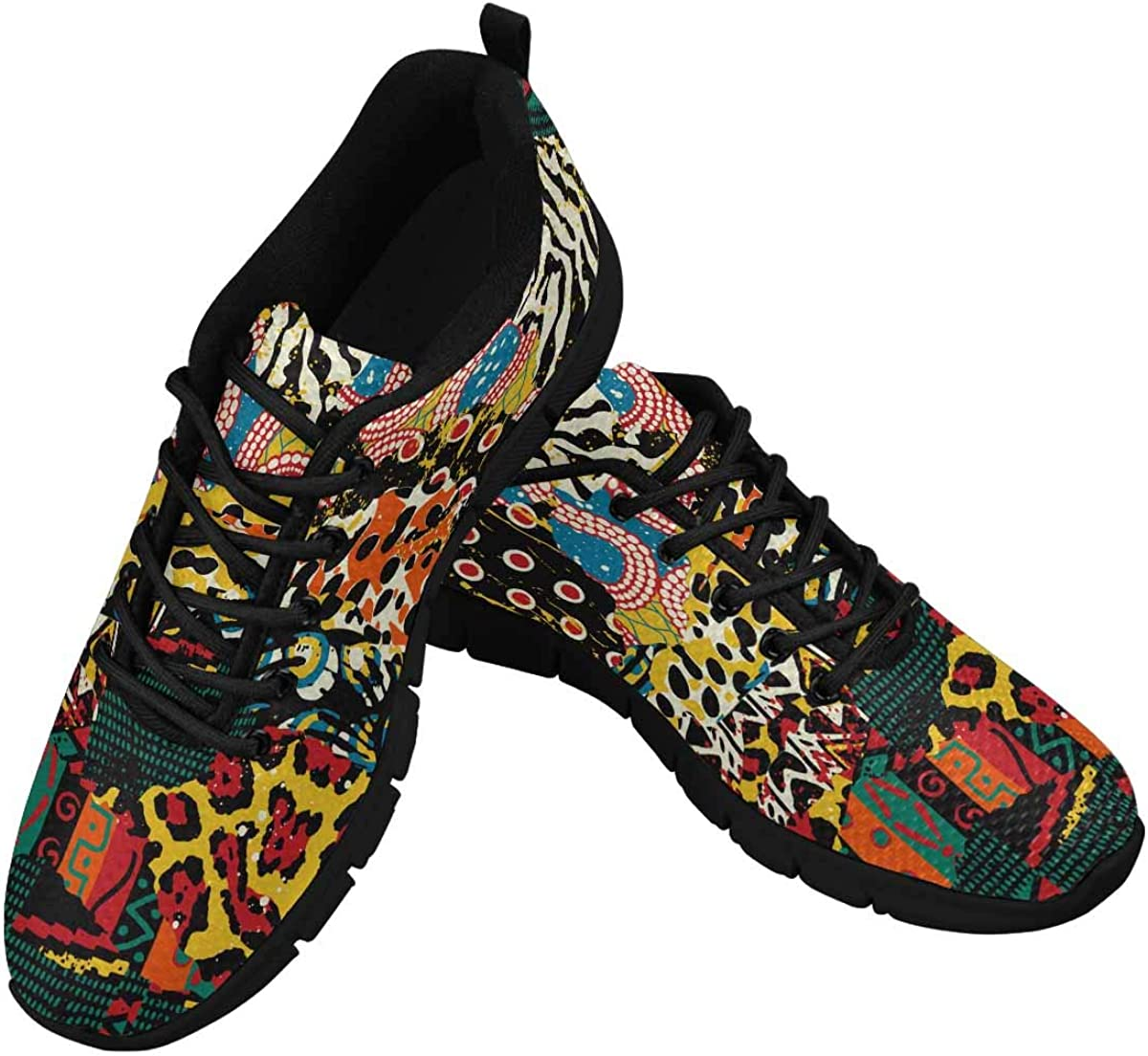 InterestPrint Traditional African Wild Animal Skins Lightweight Mesh Breathable Sneakers for Women