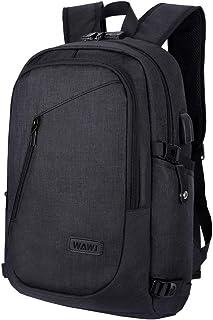 Unisex Multiuso Antifurto Zaino con porta USB,WAWJ Zaino Per PC Portatile Impermeabile da uomo borsa universitaria daypack...