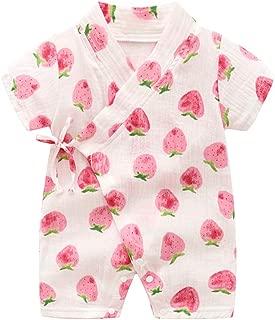 Xrknofio Baby Kimono Robe Rompers Newborn Cotton Yarn Japanese Pajamas Jumpsuit Onesie