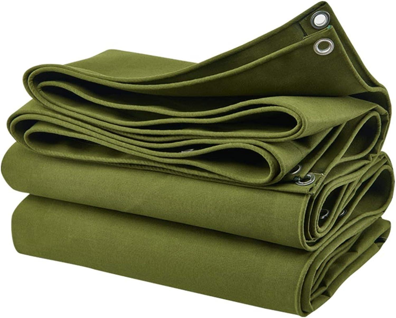 YANZHEN Tarpaulin Waterproof DustProof Sunscreen Foldable Resistant to Tear Canvas, Multiple Sizes (color   Green, Size   2.8x2.8M)