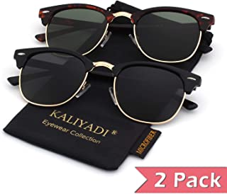 853ec0d1f3e8c Mens Polarized Sunglasses for Women Semi Rimless Frame Driving Sun glasses:100%  UV Blocking