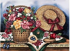 Garden Treasures by Laurie Korsgaden Floral Fine Art Print Poster (16 x 12)