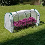 """Lynslim mini greenhouse, 48"""" x24x 21. 6"""",pe cover,large zipper doors,indoor outdoor garden green house flowerpot cover 11 high quality:environmentally friendly pe material, waterproof and sun-drying, good thermal insulation effect, non-toxic and tasteless,strong and durable. Excellent light penetration rate ensures adequate sunlight and heat preservation. It will considerably extend your planting time. Mini sised greenhouse: 48""""x24x""""21. 6"""", enough space for your houseplant ,plant pots & seed beds. Zipped doors: zipped doors is easy to access as well as good ventilation and humidity."""