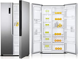 Super General 600 L Side-by-Side Refrigerator SGR710SBS/ Silver/ Temperature Control/ LED Lighting/ Carbon Filter