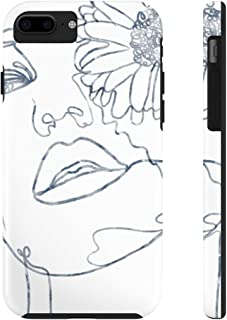 eGloop Floral Girl Line Art   Case Mate Tough Phone Cases (iPhone Xs)