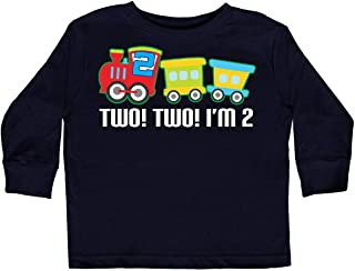 ebfd1e171 inktastic - 2nd Birthday Two Two Train Outfit Toddler Long Sleeve T-Shirt  257f6