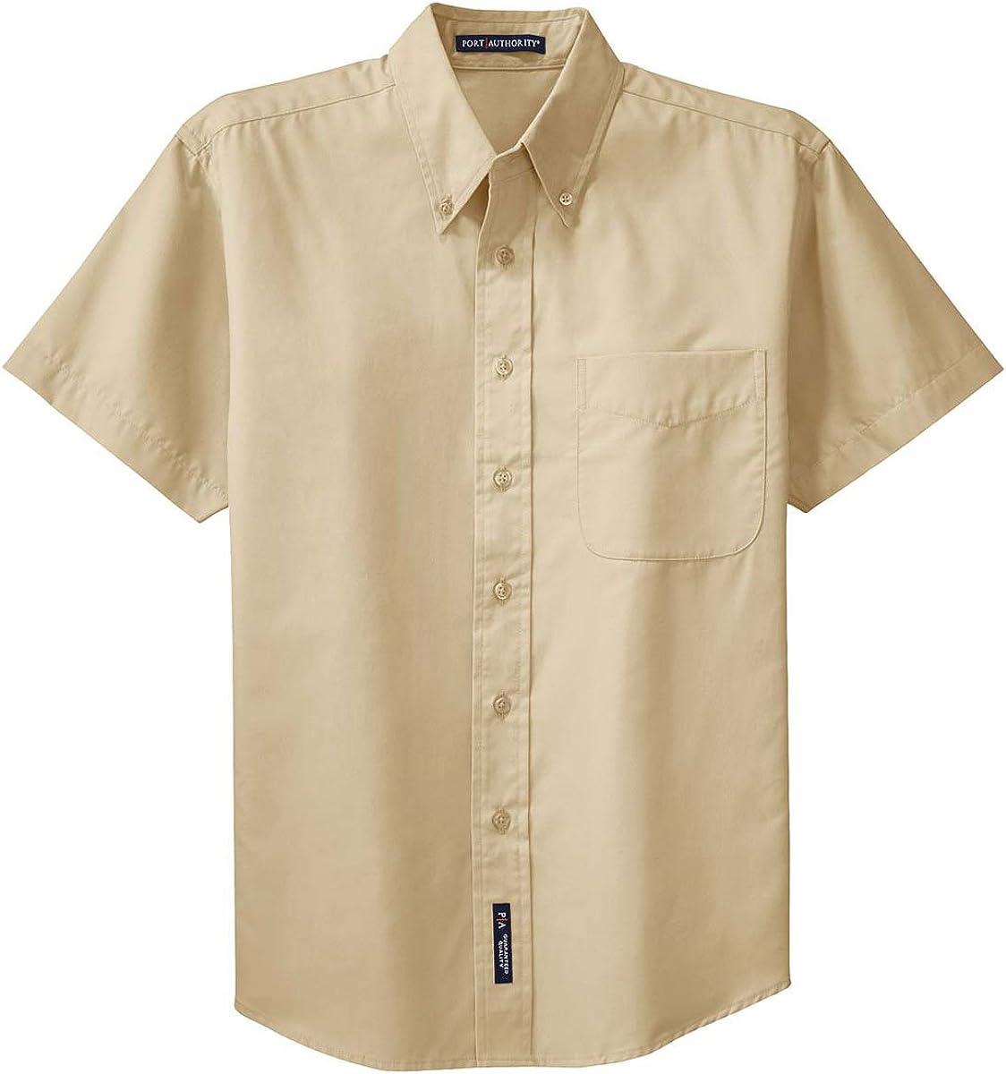 Port Authority Men's Big Short-Sleeve Easy Care Dress Shirt-Stone/Stone S508