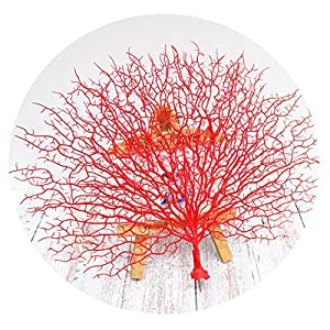 New Simple Plastic Peacock Coral Branch Artificial Flower Wedding Decoration Branch Home DIY Art Decoration Dead Branch,Red