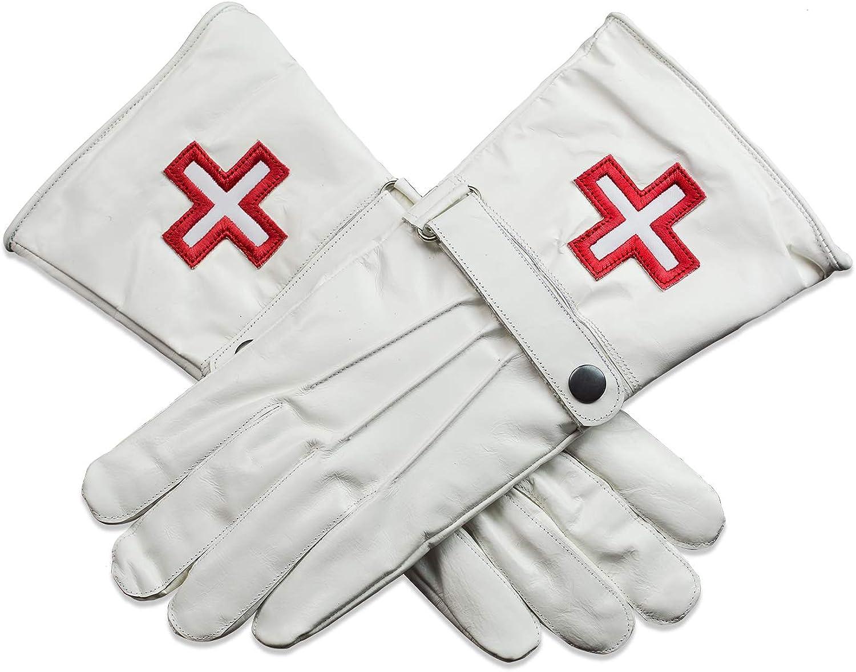 Knights Templar Cross Masonic - White Leather Store Japan's largest assortment Gloves