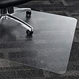 Chair Mat for Hardwood Carpet Tile Floor, WASJOYE 36'x48' PVC Floor Protector Cover Rug Mat with Non-Slip Frosted Back, Heavy Duty for Home Office Computer Desk Rolling Chair, Easy Expanded