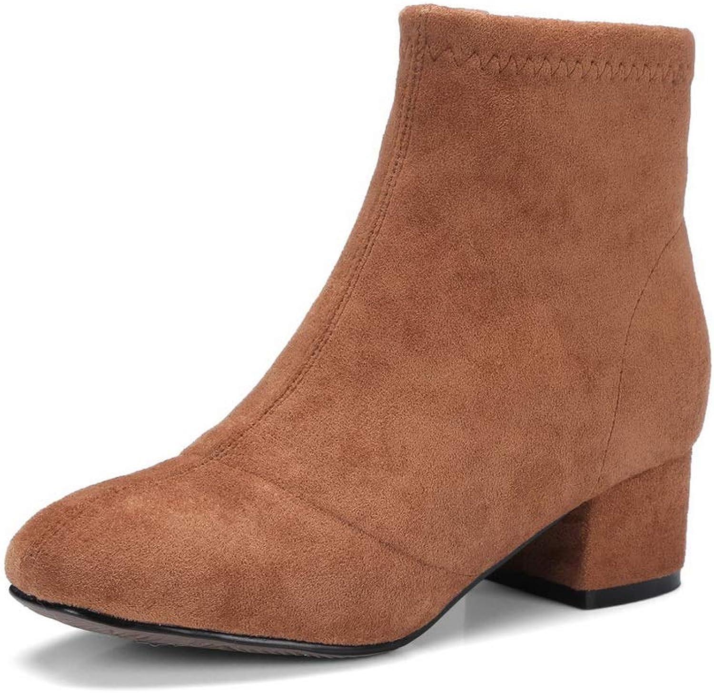 AdeeSu Womens Bucket-Style Solid Nubuck Urethane Boots SXC03719