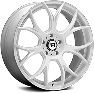 Motegi Racing MR126 Matte White with Milled Accents Wheel with Milled Finish (18.00x9.50