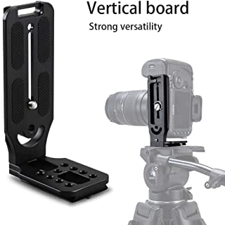 L Shape Bracket Vertical Video Shooting Quick Release Plate Universal DSLR Camera L Stand with 1/4 Inch Screw for Manfrotto DJI Osmo Ronin Zhiyun,Canon,Nikon and Sony DSLR Cameras