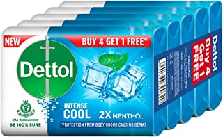 Dettol Bathing Soap Cool, 125gm, Pack of 5