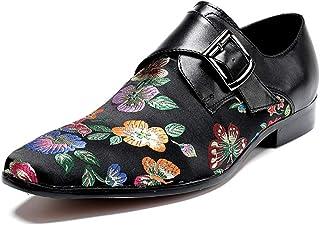 Rui Landed Oxford pour Hommes Chaussures Habillées Slip on Style Haute Qualité en Cuir Véritable De Broderie Délicatesse M...
