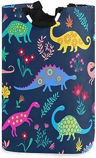 N\A Dessin animé Dinosaures Panier à Linge Panier à vêtements Pliable Durable vêtements Sales Grand Rangement Organisateur...