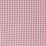 Gardinenstoff Stoff Dekostoff Meterware kariert rosa beere