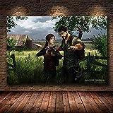 The Last of Us 3D Zombie Survival Horror Action Game Joel Ellie Guitar Girl Arte de la pared Póster ...