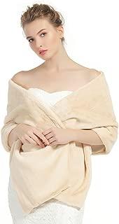 Shawl Wrap Faux Fur Shrug Stole Scarf Winter Bridal Wedding Cover Up