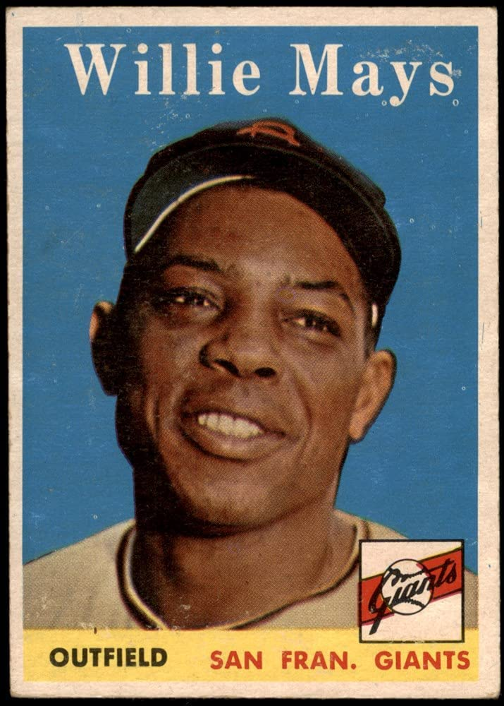 Classic 1958 Topps # 5 Willie Mays Card Francisco Baseball New popularity San Giants