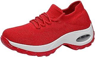 Women Mesh Thick Bottoms Sport Sneakers ❀ Ladies Flat Plarform Casual Running Sport Shoe Rocking Shoes