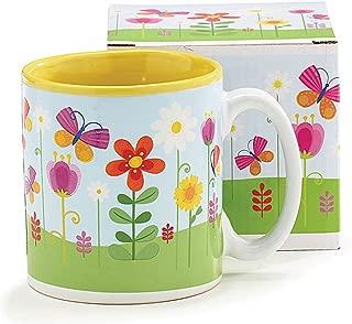 Butterflies and Flowers 13 Ounce Ceramic Coffee Tea Mug