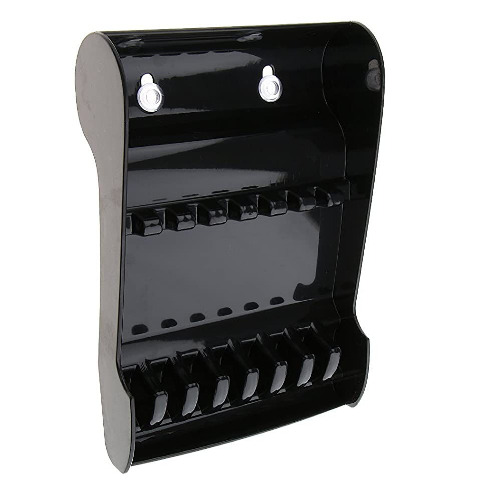 遷移乞食黒板サロン はさみホルダー スタンド 鋏収納 トレイ 滑り止め 耐久性 6個入れ 3色選べ - ブラック