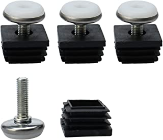 adjustable foot inserts for square tubing
