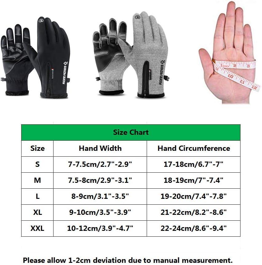 Guantes de Motos de Nieve t/érmicos y t/érmicos a Prueba de Agua para el Invierno Guantes de Invierno con Pantalla t/áctil para Hombres y Mujeres IvyH Guantes de esqu/í
