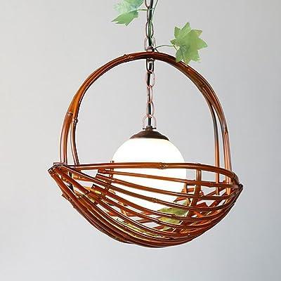ZHIFENGLIU Lámpara De Bambú Creativa del Restaurante/Lámpara De Bambú De La Personalidad/Luces