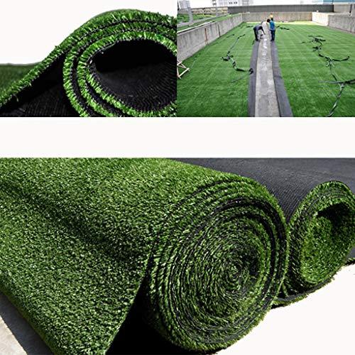 PDJSHOP Kunsstoff-Teppich, sehr strapazierfähig, Zaun für Dach, Dekoration für den Außenbereich, Höhe 10 mm 2x3m