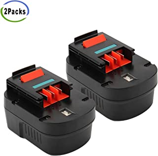 Creabest Upgraded 2Packs 12V 3.0Ah Ni-MH Replacement Battery Compatible with Black and Decker FSB12 A1712 HPB12 FS120B FS120BX A12 A12-XJ A12EX