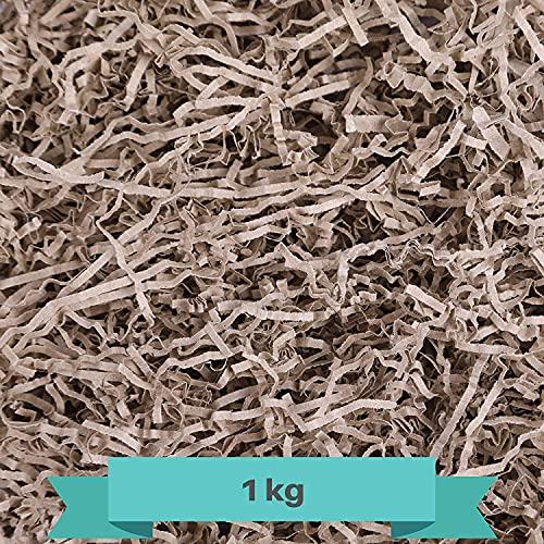 Papel Triturado Kraft 1 kilo   Reemplazo de Lana de Madera   Relleno Material de Embalaje para Cestas, Cajas, Paquetes y regalos. Protección y decoración