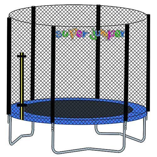 Super Jumper Trampoline met veermat, veiligheidsnet en randafdekking | Mini Rond Binnenrechthoek | Gardentrampoline | Outdoor trampoline | Indoor trampoline | GS en TÜV gecertificeerd