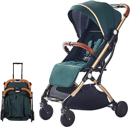 SONARIN Silla de paseo ligera y compacta,cochecito de portátil,plegable con una mano,arnés de cinco puntos,ideal para Avión(Verde)